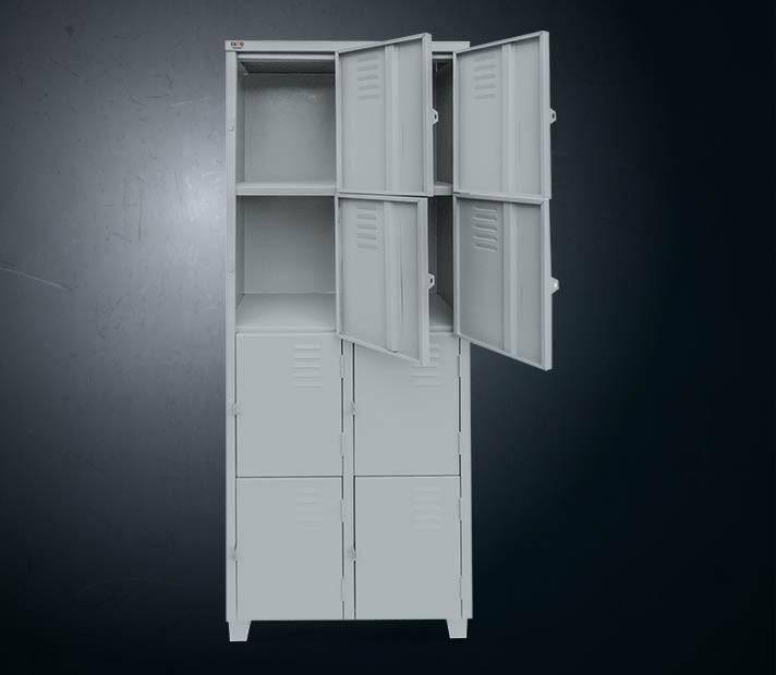 Armário de aço 8 portas